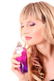 Woman with  perfume Royalty Free Stock Images