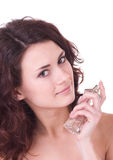 Woman with perfume bottle Stock Photo