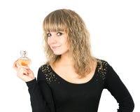 Woman perfume bottle Royalty Free Stock Photo