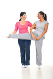 Woman with personal trainer laughing Royalty Free Stock Photo