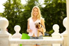 Woman with pet Stock Photography