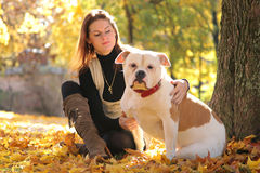 Woman with pet Royalty Free Stock Image