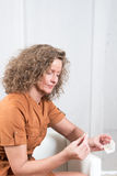 Woman with  pharmaceuticals Stock Image