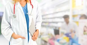 Woman pharmacist working at pharmacy