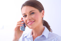 Woman on a phone Stock Photography
