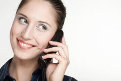 Woman on Phone Stock Photography