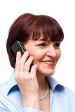 The woman with phone Royalty Free Stock Photography