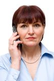 The woman with phone Royalty Free Stock Photos