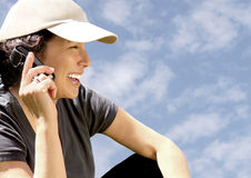 Woman On Phone Stock Images