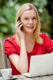 Woman With Phone Royalty Free Stock Image