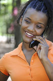 Woman on the Phone Royalty Free Stock Photography