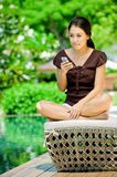 Woman With Phone Stock Photography