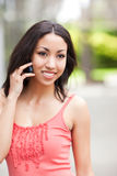 Woman on the phone Royalty Free Stock Images