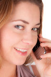 Woman with a phone royalty free stock images