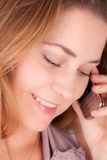 Woman with a phone stock photography