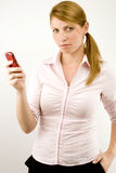 Woman with phone. Stock Images