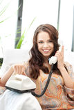 Woman with phone Stock Photos
