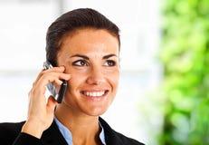 Woman at phone Royalty Free Stock Image