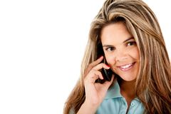 Woman on the phone Royalty Free Stock Photos