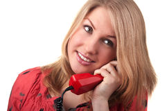 Woman with phone Royalty Free Stock Images