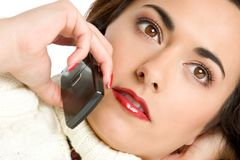 Woman on Phone Royalty Free Stock Images