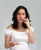 Woman on phone stock image
