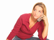 Woman Phone Stock Photos