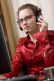 Woman on the phone. At office Stock Photos