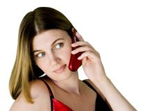 Woman with phone Stock Photo