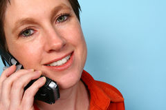 Woman on phone royalty free stock photo
