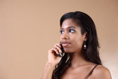 Woman on a phone Stock Images