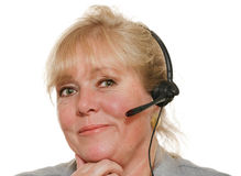 Woman phone assistance Royalty Free Stock Photo