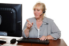 Woman phone assistance Royalty Free Stock Photos