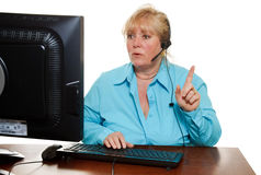 Woman phone assistance Stock Photography