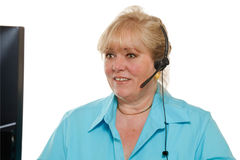 Woman phone assistance Stock Photos