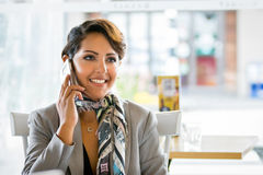 Woman on Phone Royalty Free Stock Photos