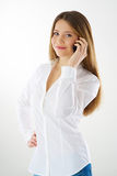 Woman phone call Royalty Free Stock Photography