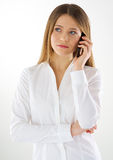 Woman phone call Stock Photos