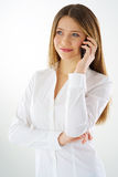 Woman phone call Stock Photo