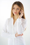 Woman phone call Royalty Free Stock Photos