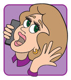 Woman on Phone. Woman having animated conversation on cell phone Stock Photo