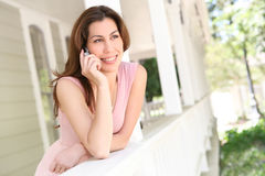 Woman on Phone at Home Royalty Free Stock Photo