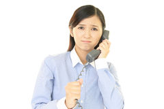 Woman with a phone Stock Images