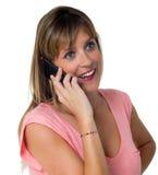 Woman phone Royalty Free Stock Image