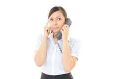 Woman with a phone Royalty Free Stock Image