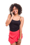 Woman at the phone Stock Images