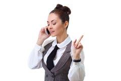Woman phone talking Stock Photo