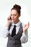 Woman phone talking Royalty Free Stock Images