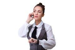 Woman phone talking Stock Photography
