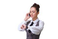 Woman phone talking Royalty Free Stock Photo